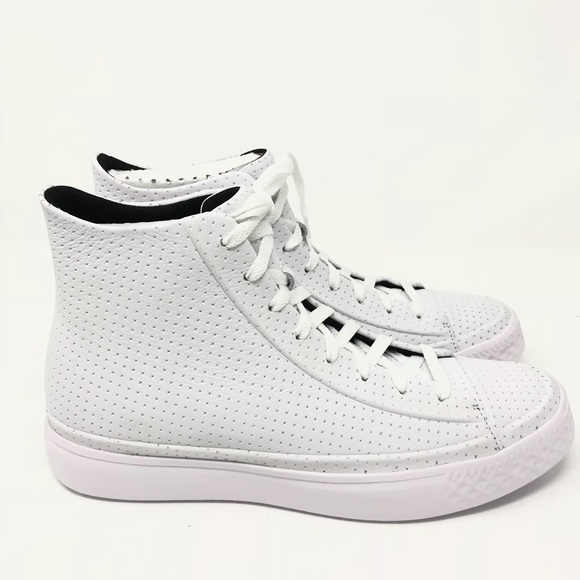 WhiteWhite Converse Chuck Taylor All Star Modern Perforated